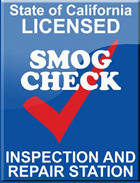 CA licensed SMOG check inspection and repair station